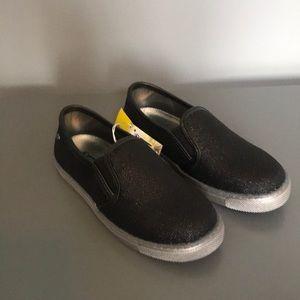 Naturino Express black sparkle slip on sneakers